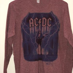 Next Level Apparel Tops - AC/DC Long Sleeve Tee Size L